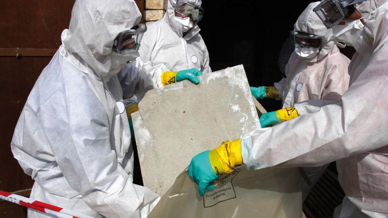 Entsorgung von Asbestprodukten